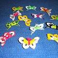 Motylki wykonane przez córkę #wielkanoc #OzdobyWielkanocne #szydełko #rękodzieło #motylki #KoszulkiNaJajka
