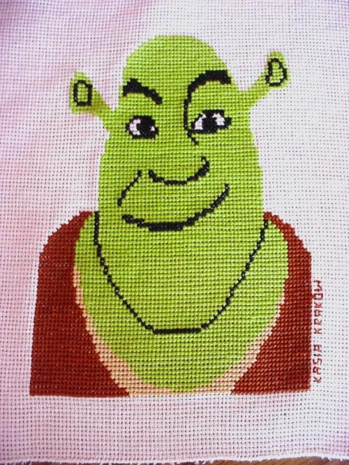 kołderkowy kwadracik - Shrek